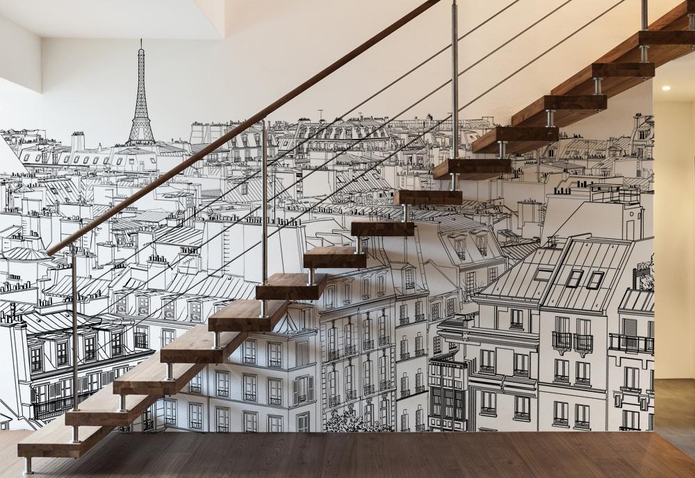 Papier Peint Paris Acte Deco