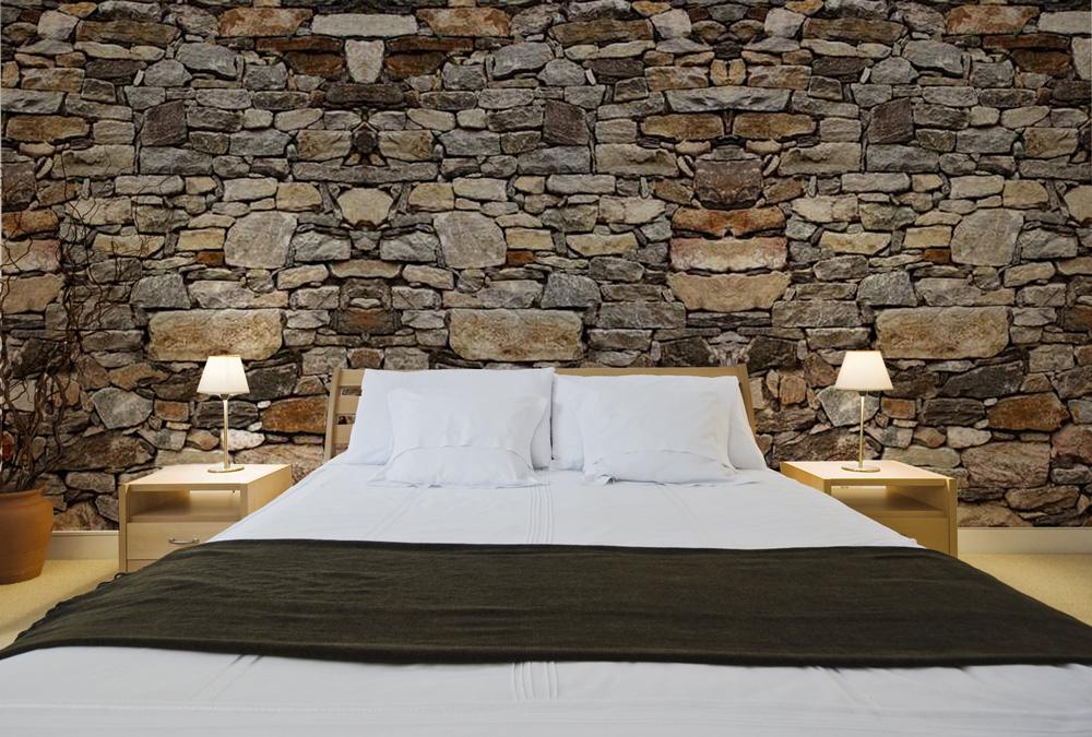 papier peint trompe l oeil imitation pierre fabulous. Black Bedroom Furniture Sets. Home Design Ideas