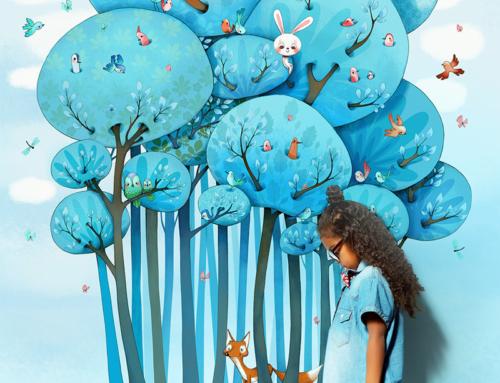 Aménager une chambre d'enfant avec un papier peint original, coloré et écologique