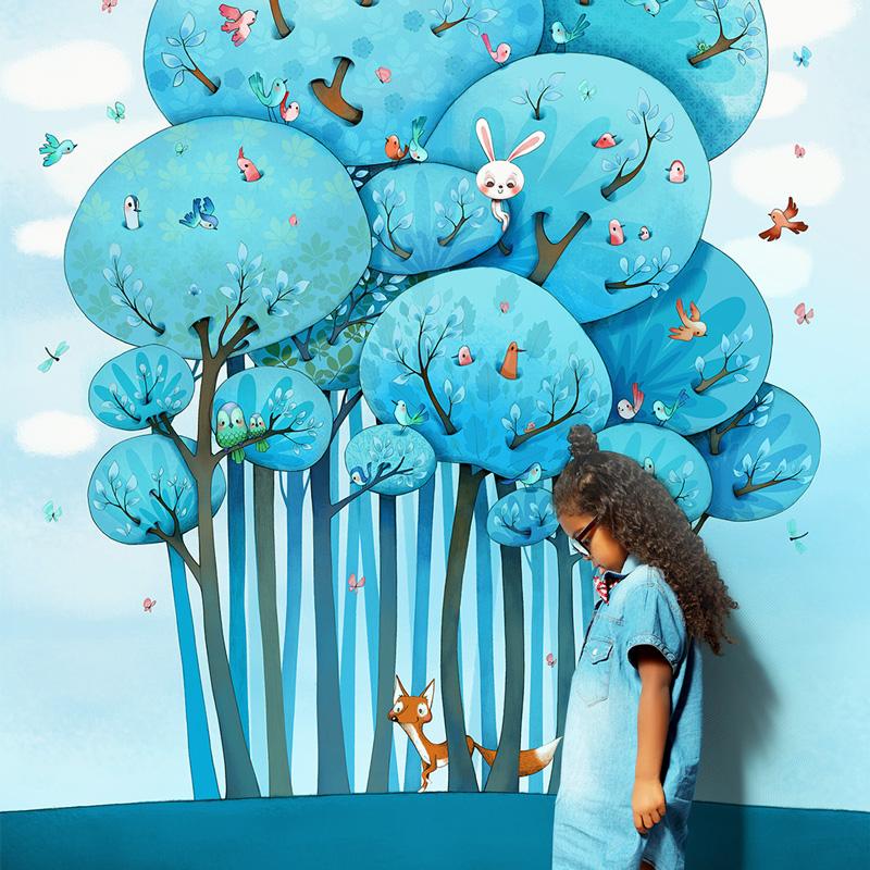 Aménager une chambre d'enfant avec un papier peint original