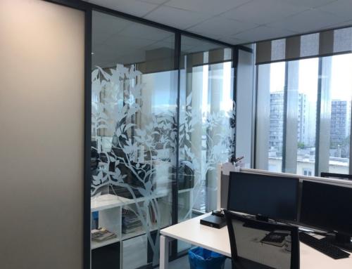 Réalisation de vitrophanie pour les bureaux d'Ecritel à Nantes