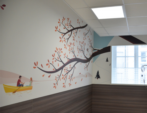 Décoration murale pour l'Hôpital Fondation Rothschild à Paris