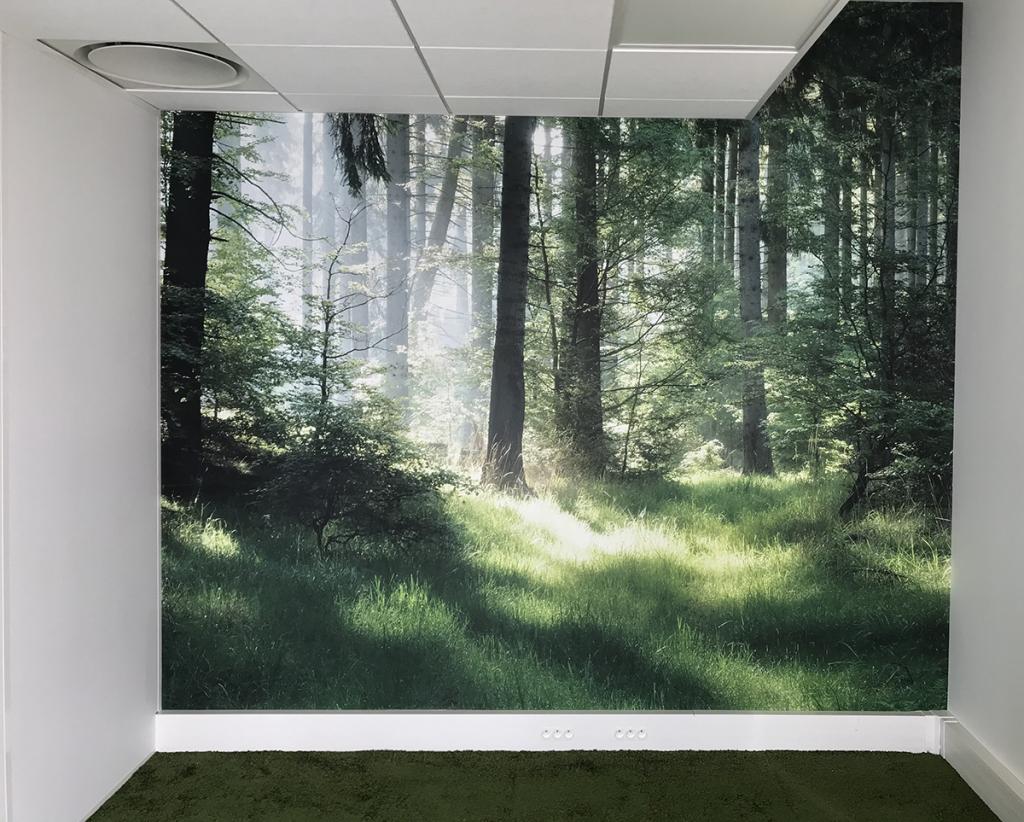 Tendance papier peint textile mono lé. Un support écologique, un rendu exceptionnel et une facilité de pose