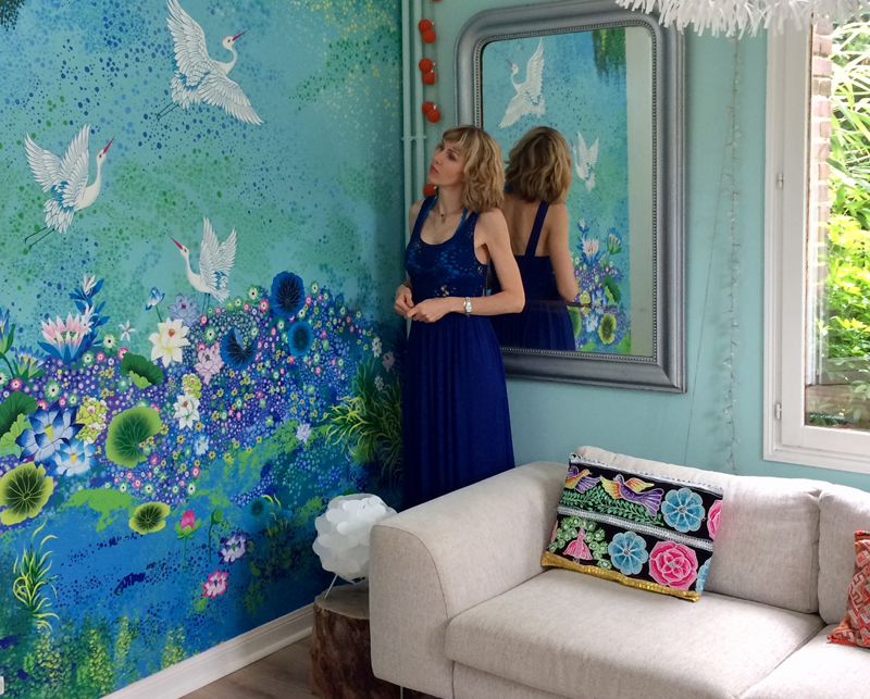 Ouvrez une fenêtre vers un paysage de rêve avec les papiers peints de Peggy Nille