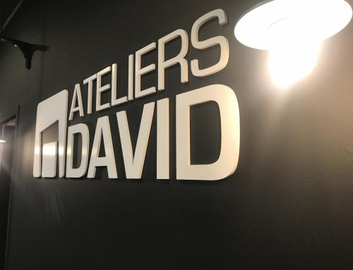 Réalisation de la signalétique Atelier David à Guérande