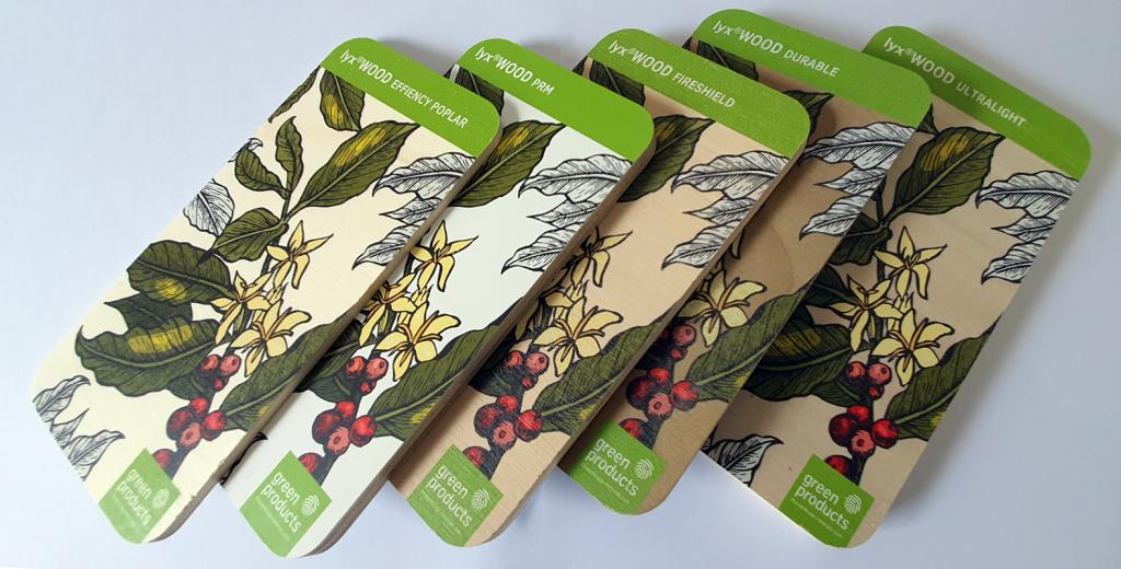 Wood Deco, 5 nouvelles matières écologiques et recyclables pour la décoration imprimée
